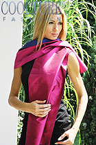 2-type double face silk scarf