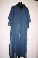 Poncho dress, chiffon, blue