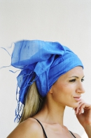 Silk scarf soft, royal blue