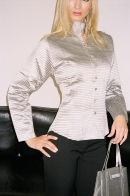 "Silk blouse ""Style"", silver"