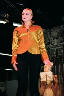 "Silk blouse ""Style"", gold"
