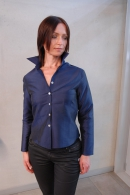 Silk blouse nightblue