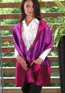 Scarf with pockets purple - fuchsia