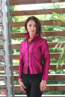 Silk blouse fuchsia