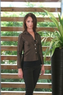 Silk blouse brown