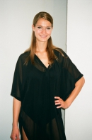 Poncho dress, chiffon, black