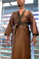 Unique turnable kimono, dark brown and light brown